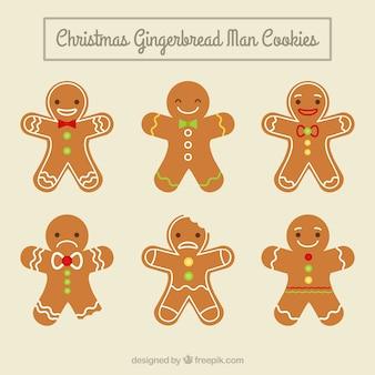 Simpáticas galletas de muñecos de jengibre