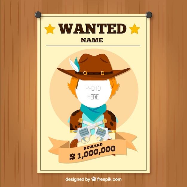 Simpático cartel se busca vaquero