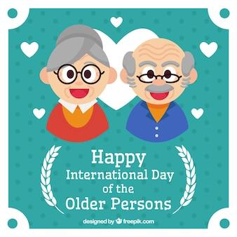 Simpático fondo de celebración del día de las personas mayores