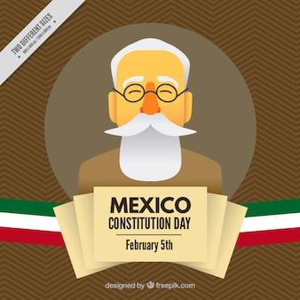 Simpático fondo del día de la constitución de méxico
