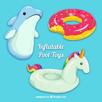 Simpáticos juguetes inflables de piscina