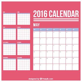 Simple calendario 2016