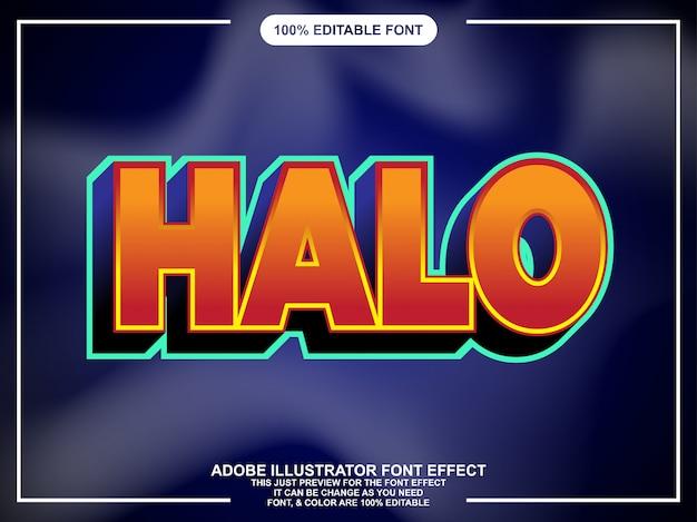 Simple efecto de texto moderno juego