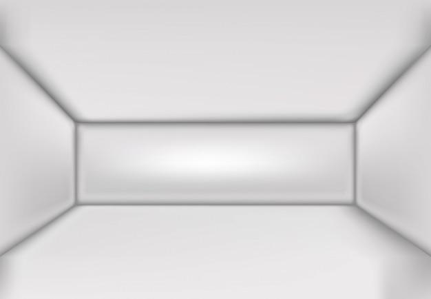 Simple interior 3d ilustración vector habitación en blanco