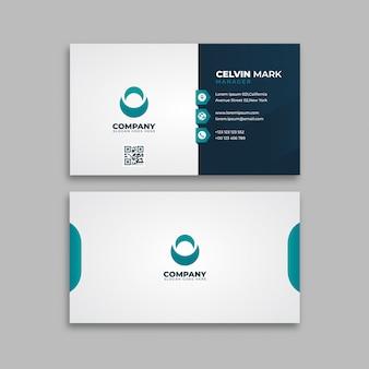 Simple tarjeta de visita minimalista