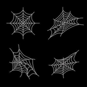 Simple tela de araña de halloween activos