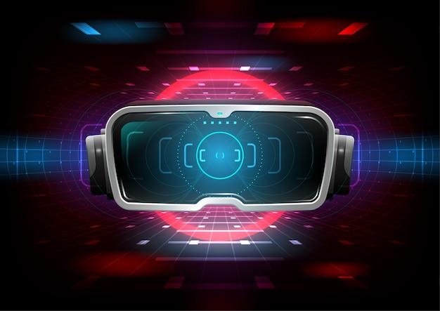 Simulación de realidad virtual juego y concepto de entretenimiento.