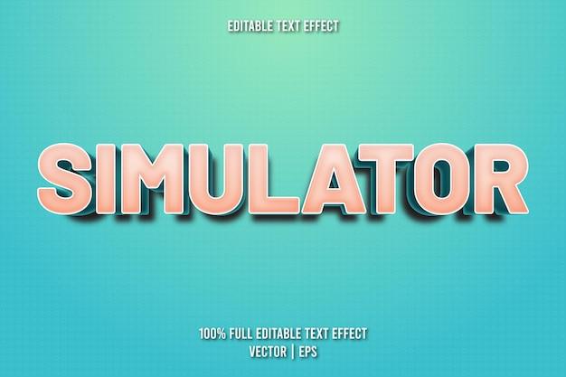 Simulador de efecto de texto editable estilo de dibujos animados