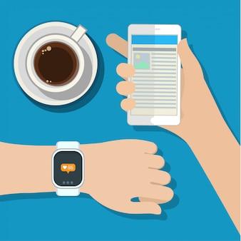 Sincronización entre reloj inteligente y teléfono inteligente