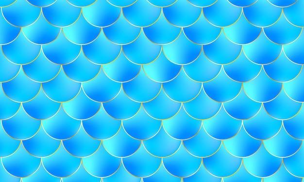 Sirena kawaii patrón pescado escala color acuarela fondo.