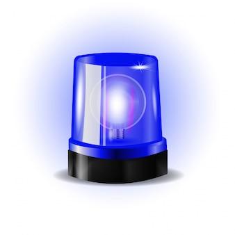 Sirena de luces intermitentes azules