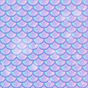 Sirena nacarada escalas de patrones sin fisuras