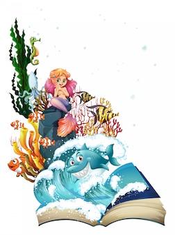 Sirena y océano