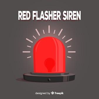 Sirena roja brillando