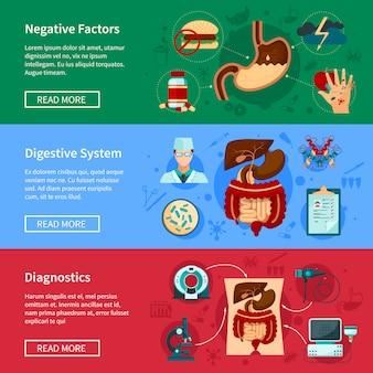 Sistema de bandera plana del sistema digestivo