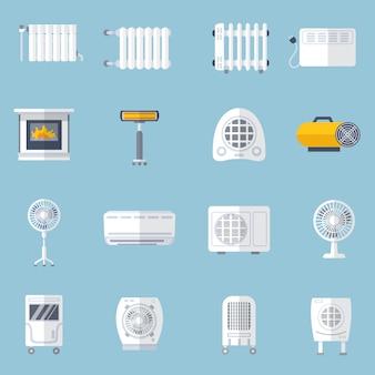 Sistema de calefacción y refrigeración plana