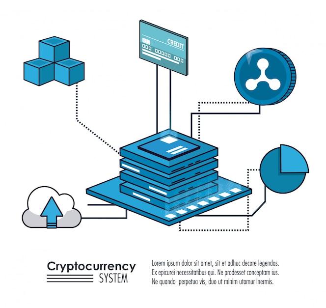 Sistema de criptomoneda y banner de mercado
