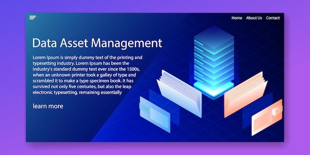 Sistema de gestión de activos de datos.