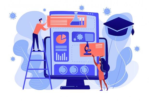 Sistema de gestión del aprendizaje para el concepto de educación en el hogar.