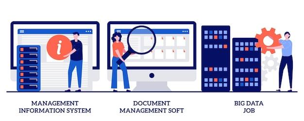 Sistema de información de gestión, gestión de documentos suave, trabajo de big data