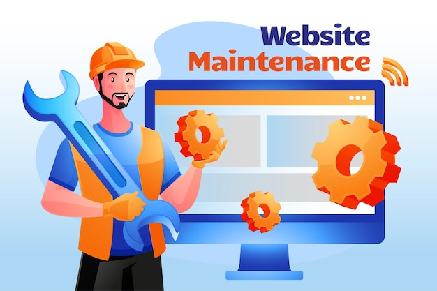 El sistema de mantenimiento del sitio web actualiza el concepto de desarrollo del sitio web