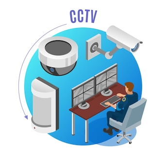 Sistema de seguridad cámaras cctv sensores de movimiento dispositivos de monitoreo de observación