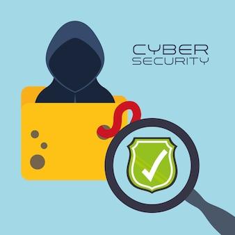 Sistema de seguridad cibernética y diseño de medios.