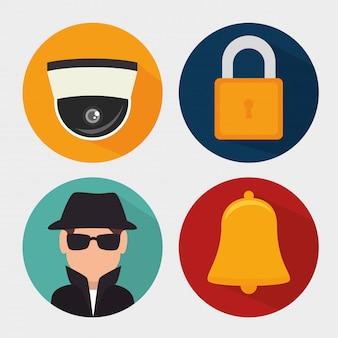 Sistema de seguridad de vigilancia.