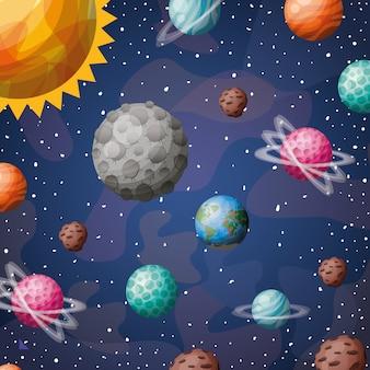 Sistema solar planetas y sol.