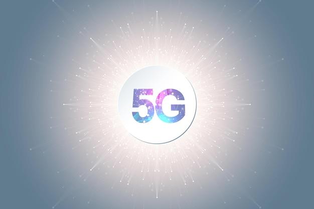 Sistemas inalámbricos de red 5g e ilustración vectorial de internet