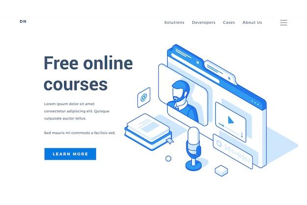 Sitio de internet que ofrece cursos en línea gratis