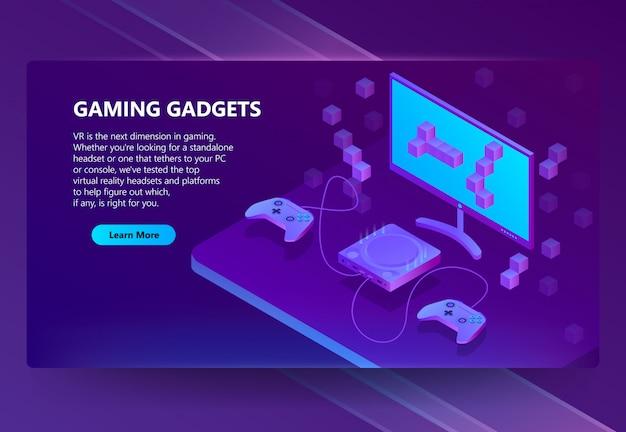 Sitio de juegos isométricos 3d, dispositivos electrónicos.