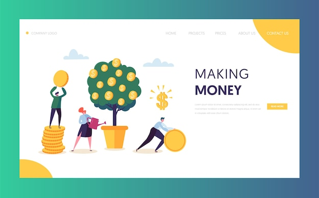 Sitio web de capital de crecimiento financiero empresarial