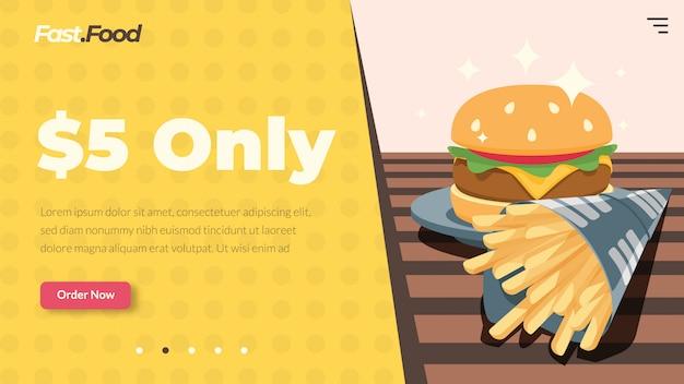 Sitio web de comida rápida