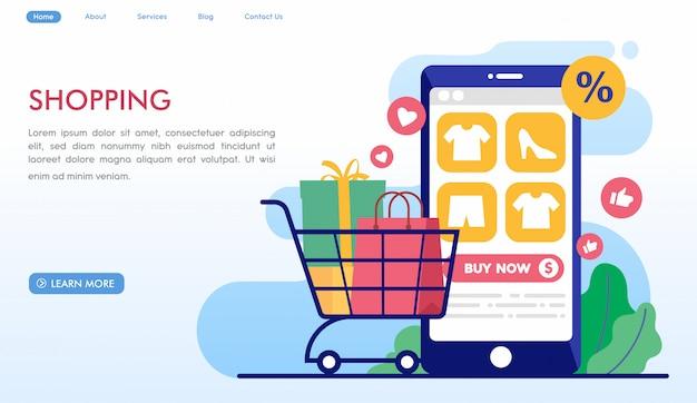 Sitio web de compras en línea