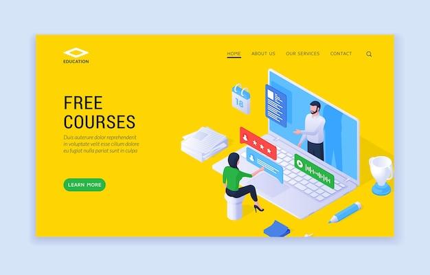 Sitio web de cursos gratuitos