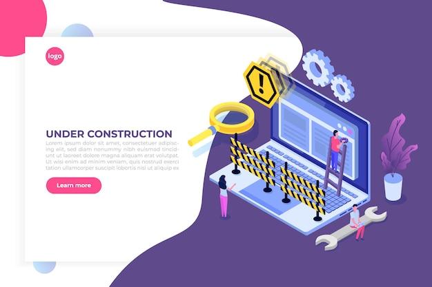 Sitio web en desarrollo, sitio web en construcción
