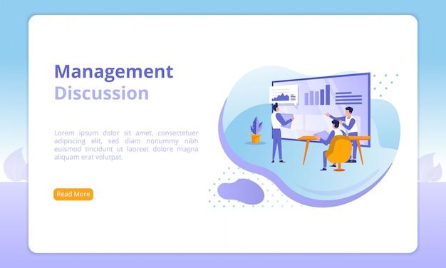 Sitio web de discusión de gestión