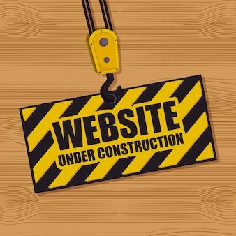 Sitio web bajo diseño de construcción