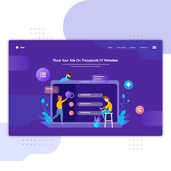 Sitio web de encabezado de educación