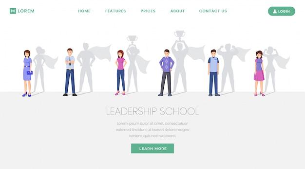 Sitio web de la escuela de líderes