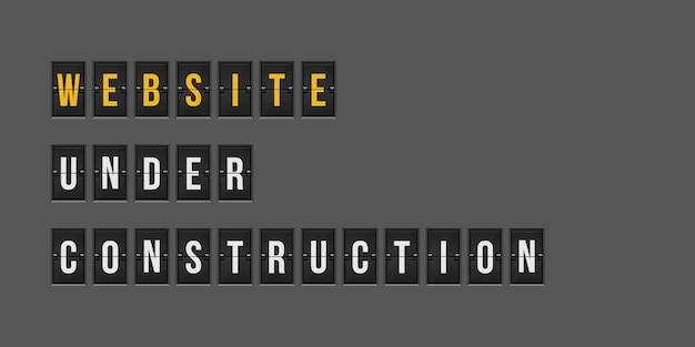 Sitio web bajo ilustración de fondo de construcción