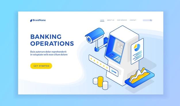 Sitio web de operaciones bancarias