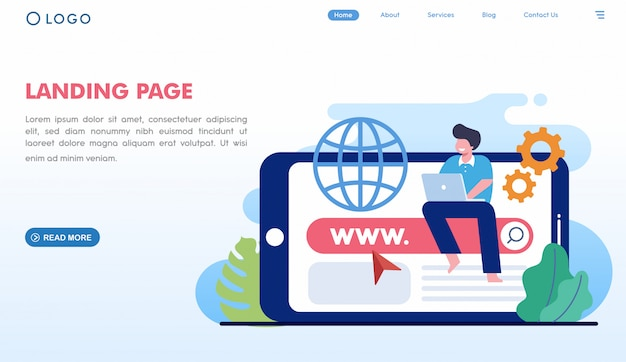 Sitio web de la página de aterrizaje