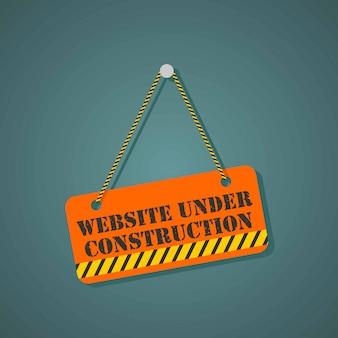 Sitio web en la página de construcción