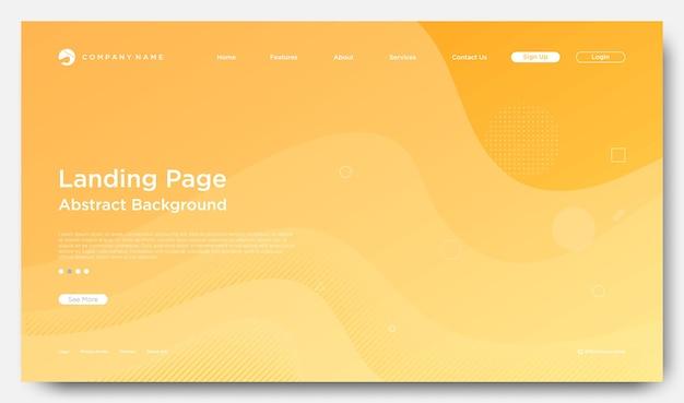 Sitio web de página de destino de fondo, estilo abstracto moderno