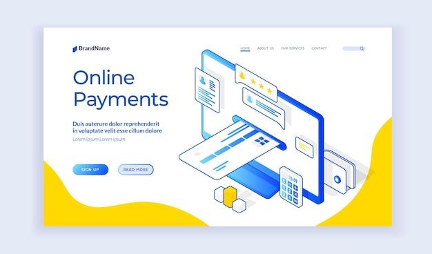 Sitio web de pagos en línea