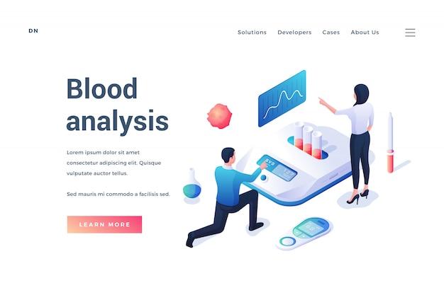 Sitio web con servicio en línea para realizar análisis de sangre