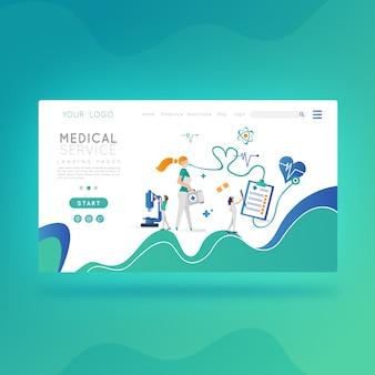 Sitio web de servicio medico