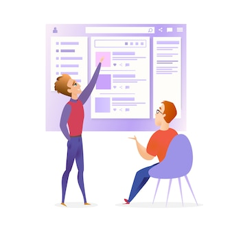 Sitio web ui designer developer meeting banner